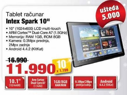 """Tablet Spark 10"""" Intex"""