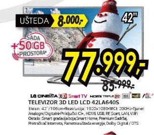 3D televizor LED LCD 42LA640S