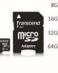 Mikro Sd SDXC Class10, Transcend 8GB