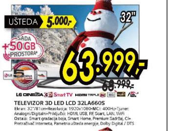 Televizor LED LCD 32LA660S