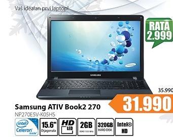 Laptop ATIV Book2 270 NP270E5V-K05HS