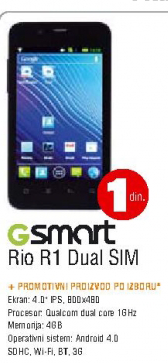 Mobilni telefon GSmart Rio R1 Dual SIM