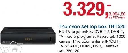 Set Top Box Tht520 Thomson