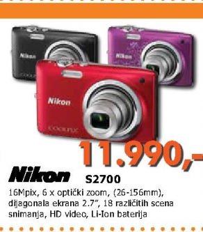S2700 digitalni foto aparat