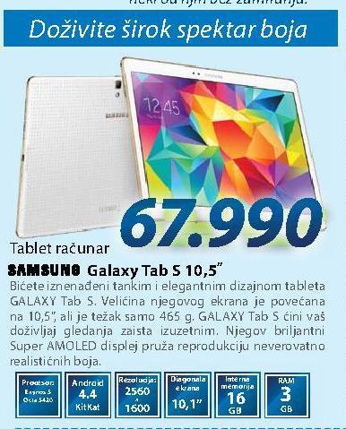 Tablet Galaxy Tab S 10.5