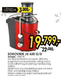 Sokovnik JU 650 D/G