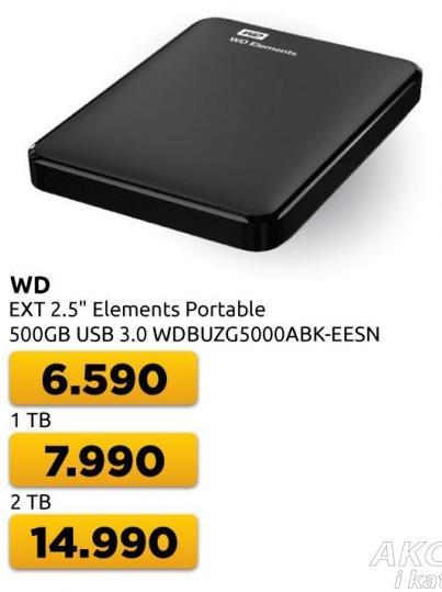 Eksterni hard disk WD Elements Portable 1TB