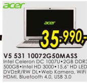 Laptop V5-531-10072G50MASS