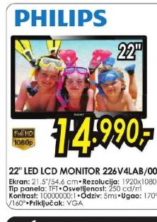 LED LCD monitor 226V4LAB/00