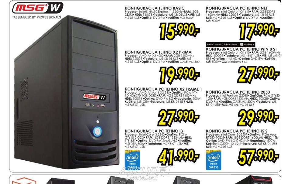 Konfiguracija PC TEHNO X2 FRAME 1