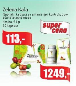 Zelena kafa napitak za smanjenje i kontrolu povećane telesne mase, kesica