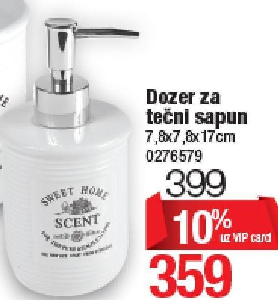 Dozer tečnog sapuna