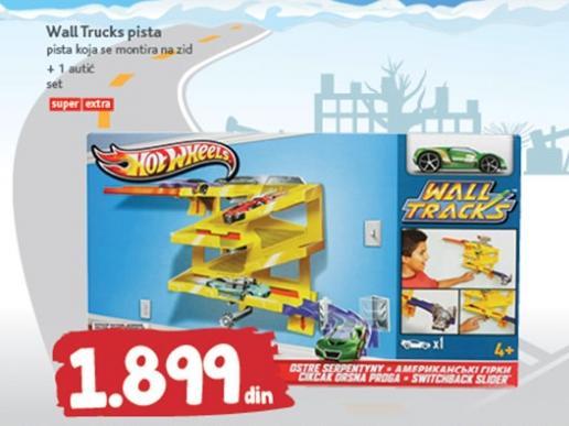 Igračka wall truck pista