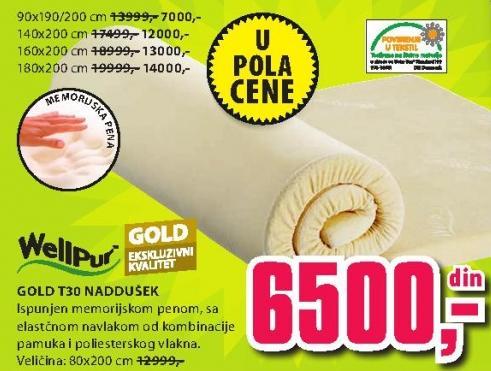 Naddušek Gold T30 140x200
