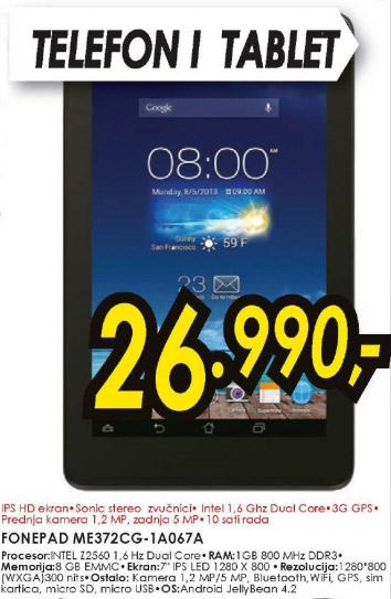 Tablet FonePad Me372CG-1A067A