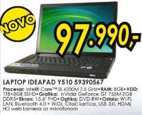 Laptop IdeaPad Y510 59390567