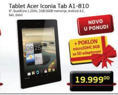 Tablet Iconia TAB A1-810