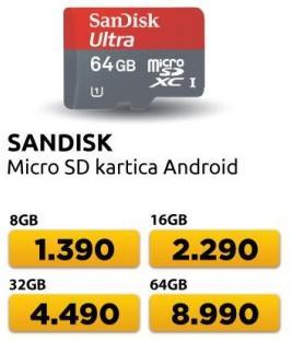 Memorijska kartica Micro SD Android 16GB