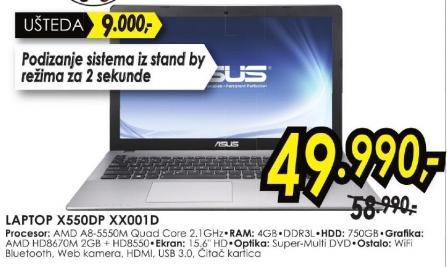 Laptop X550dp Xx001d