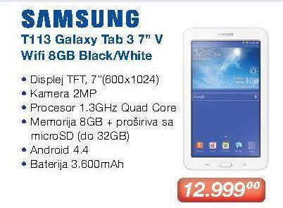 Tablet Galaxy Tab 3 T113