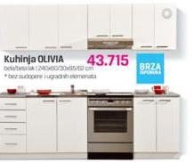 Kuhinja Olivia, bela/lak bela