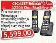 Bežični telefon Gigaset A220 Duo Black