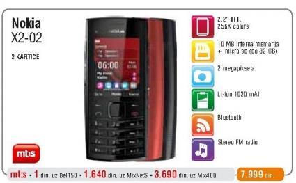 Mobilni telefon X2-02