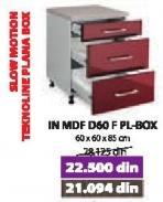 Kuhinjski element In Mdf D60 F Pl-Box Bordo