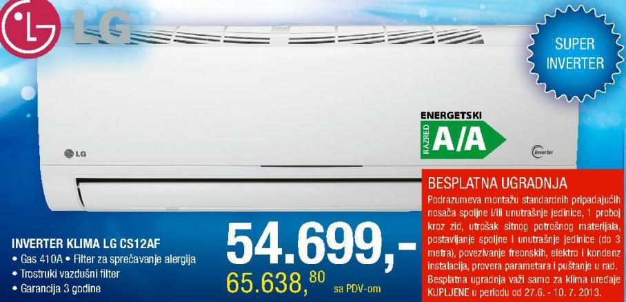 Klima Inverter CS12AF