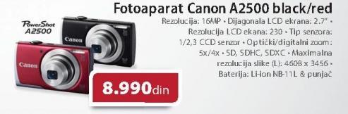 Digitalni fotoaparat PowerShot A2500 Black/red