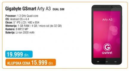 Mobilni telefon Gsmart Arty A3