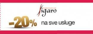 20% popusta na sve usluge Figaro