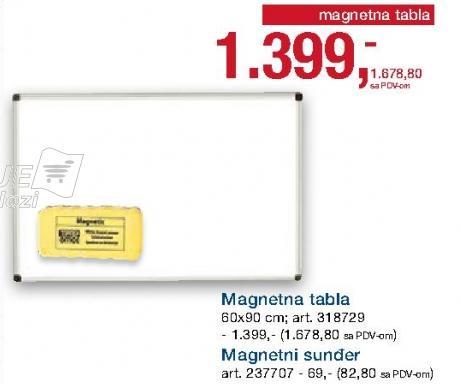 Magnetna tabla 60x90