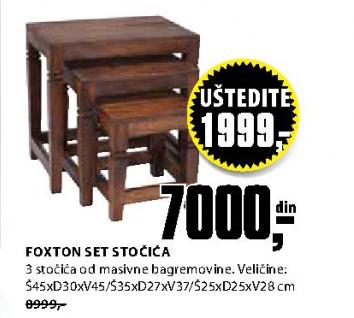 Set stočića Foxton