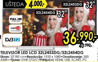 """Televizor LED 32"""" 32l2454dg"""