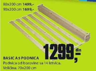 Podnica Basic A5 70x200