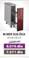 Kuhinjski element D20 Žica Bordo sjaj