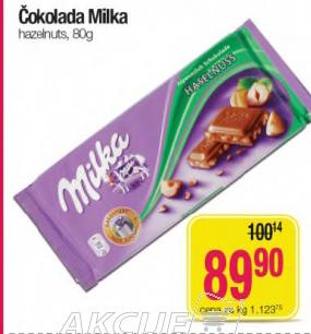 Čokolada haselnuts