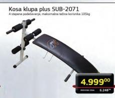 Kosa klupa plus SUB-2071
