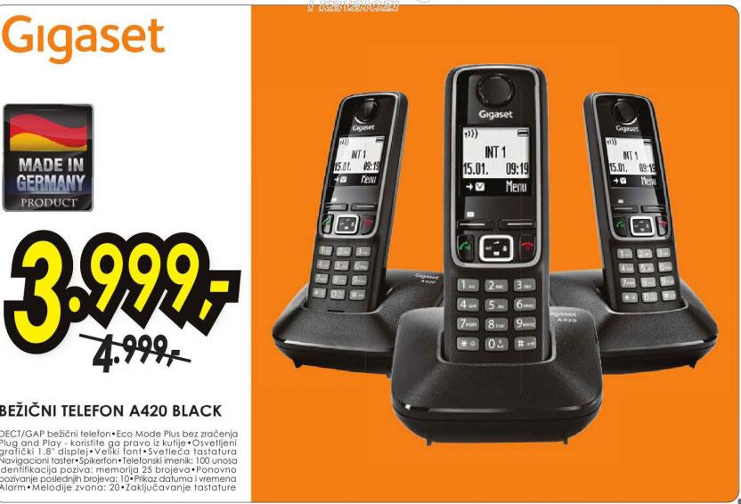 Bežični telefon A420 BLACK
