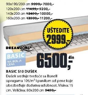 Dušek Basic S10 120x200cm