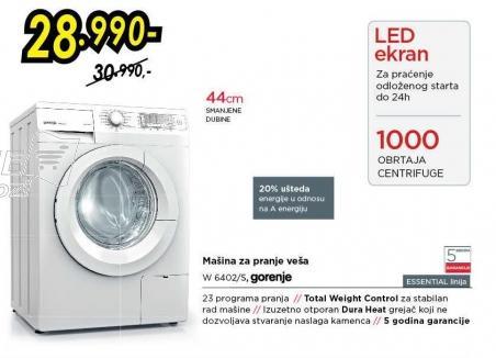 Mašina za pranje veša W 6402/s