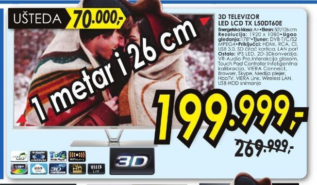 Televizor LED TX-L50DT60E