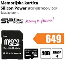 Memorija Micro SD SP004GBSTH004V10-SP
