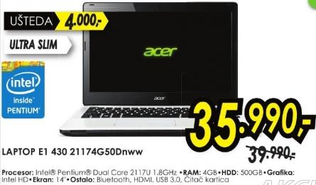 laptop Aspire E1 430 21174g50dnww