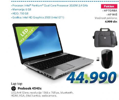 Laptop računar PROBOOK 4540S H5V04ES
