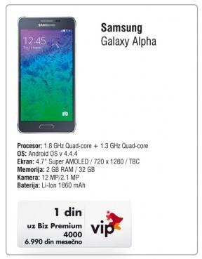 Mobilni telefon Galaxy Alpha