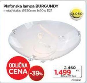 Plafonska lampa Burgundy