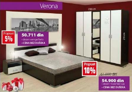Spavaća soba Verona Hrast bež sjaj