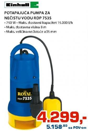 Potapajuća Pumpa za nečistu vodu